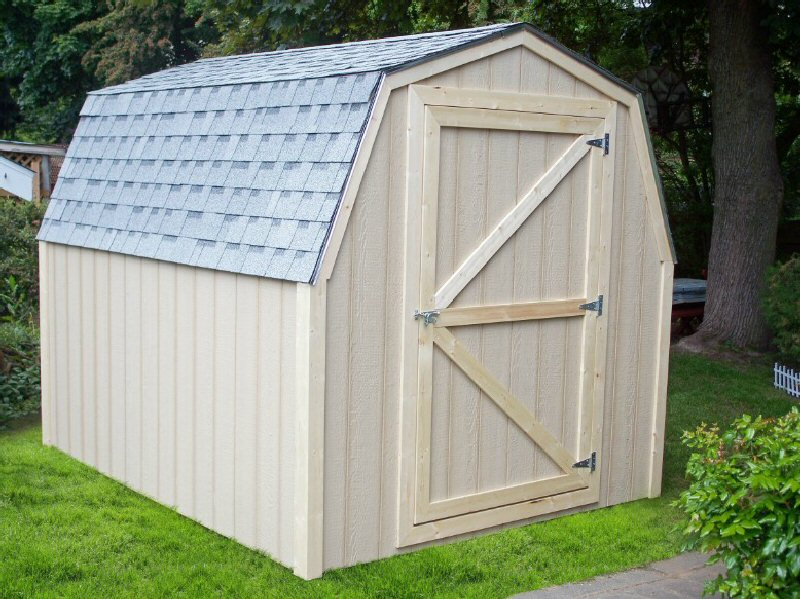 wood storage sheds - Extra Space - pressure treated floors and t1-11, cedar, lp siding.